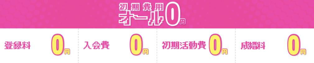 活動初期費用0円
